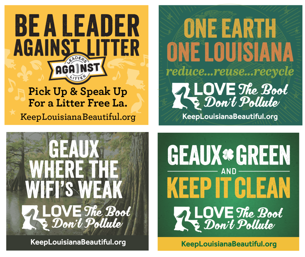 Geaux Green Ad Samples